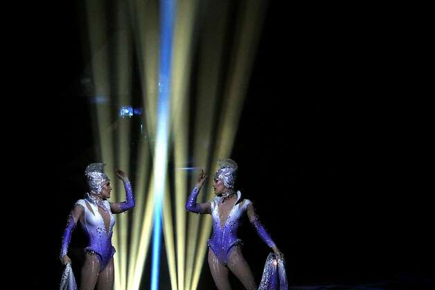 The crystal ladies perform during Cirque du Soleil's production of Totem at the Grand Chapiteau tent at AT&T Park in San Francisco, Calif., Thursday, October 27, 2011. Photo: Sarah Rice, Special To The Chronicle