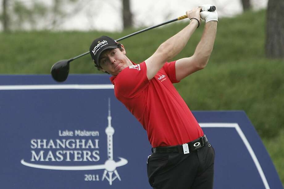 Rory McIlroy of Northern Ireland tees off  on the third hole during the first round of the Lake Malaren Shanghai Masters golf tournament in Shanghai, China, Thursday, Oct. 27, 2011. (AP Photo) Photo: AP