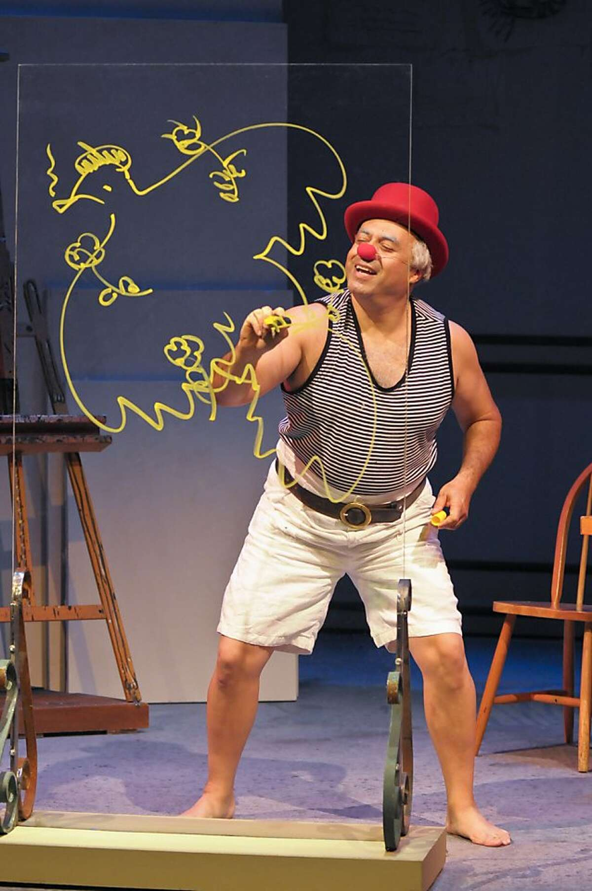 Herbert Siguenza as Pablo Picasso in his play