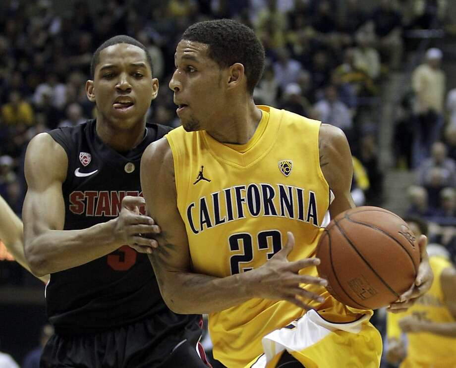 California's Allen Crabbe, right, drives against Stanford's Anthony Brown during the first half of an NCAA college basketball game Saturday, March 5, 2011, in Berkeley, Calif. (AP Photo/Ben Margot)  Ran on: 03-06-2011 Stanford's Anthony Brown tries to stop Cal's Allen Crabbe, who had a game-high 24 points. Ran on: 03-06-2011 Stanford's Anthony Brown tries to stop Cal's Allen Crabbe, who had a game-high 24 points. Photo: Ben Margot, AP