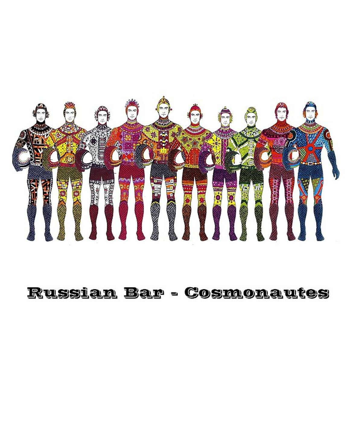 Costume design by Kym Barrett for Cosmonauts (Russian bars) who perform in cirque du soleil for