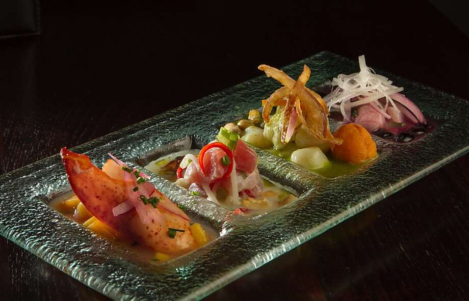 The Ceviche Quatro at Pasion Restaurant in San Francisco, Calif., is seen on Wednesday,  October 12, 2011. Photo: John Storey, Special To The Chronicle