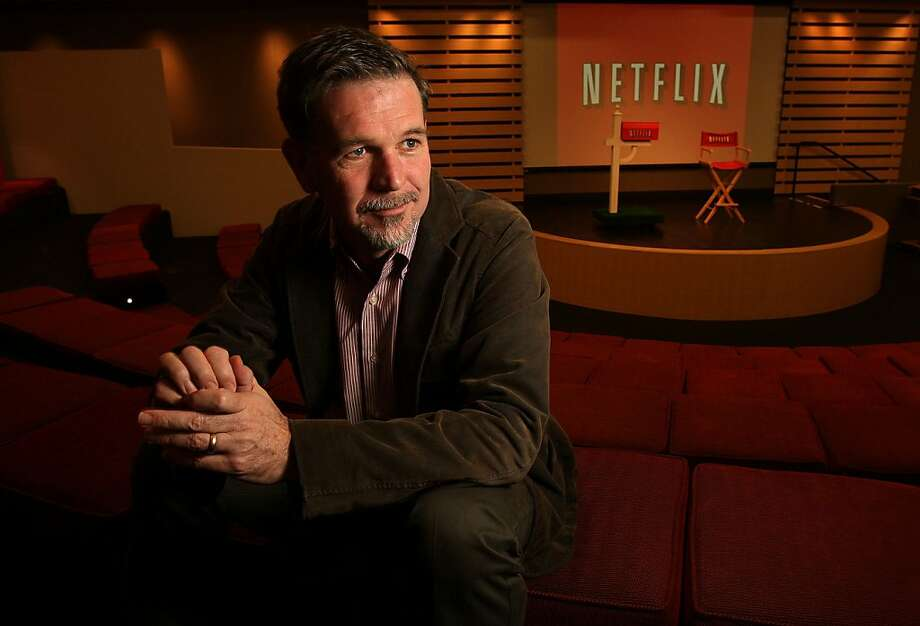 Reed Hastings, the founder and CEO of Netflix, at company headquarters in Los Gatos, Calif., on Thursday Dec. 18, 2008 Ran on: 12-24-2008 Netflix founder and CEO Reed Hastings hangs out at the company's Los Gatos headquarters, where he has no office.   Ran on: 03-17-2011 CEO Reed Hastings' Netflix is apparently considering an exclusive offer of &quo;House of Cards&quo; on its streaming service. Photo: Michael Macor, The Chronicle