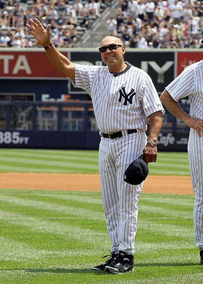 Reggie Jackson is introduced during the New York Yankees 65th Old Timers Day ceremony. The New York Yankees defeated the Colorado Rockies, 6-4, at Yankee Stadium in New York on Sunday, June 26, 2011. (Jim McIsaac/Newsday/MCT)  Ran on: 07-07-2011 Photo caption Dummy text goes here. Dummy text goes here. Dummy text goes here. Dummy text goes here. Dummy text goes here. Dummy text goes here. Dummy text goes here. Dummy text goes here.###Photo: names07_PH_reggie1308960000Newsday###Live Caption:Reggie Jackson is introduced during the New York Yankees 65th Old Timers Day ceremony. The New York Yankees defeated the Colorado Rockies, 6-4, at Yankee Stadium in New York on Sunday, June 26, 2011. (Jim McIsaac-Newsday-MCT)###Caption History:Reggie Jackson is introduced during the New York Yankees 65th Old Timers Day ceremony. The New York Yankees defeated the Colorado Rockies, 6-4, at Yankee Stadium in New York on Sunday, June 26, 2011. (Jim McIsaac-Newsday-MCT)###Notes:508709 Rockies at Yankees###Special Instructions:NC BL  NEW YORK CITY OUT   INTERNET USE OUT Photo: Jim McIsaac, MCT