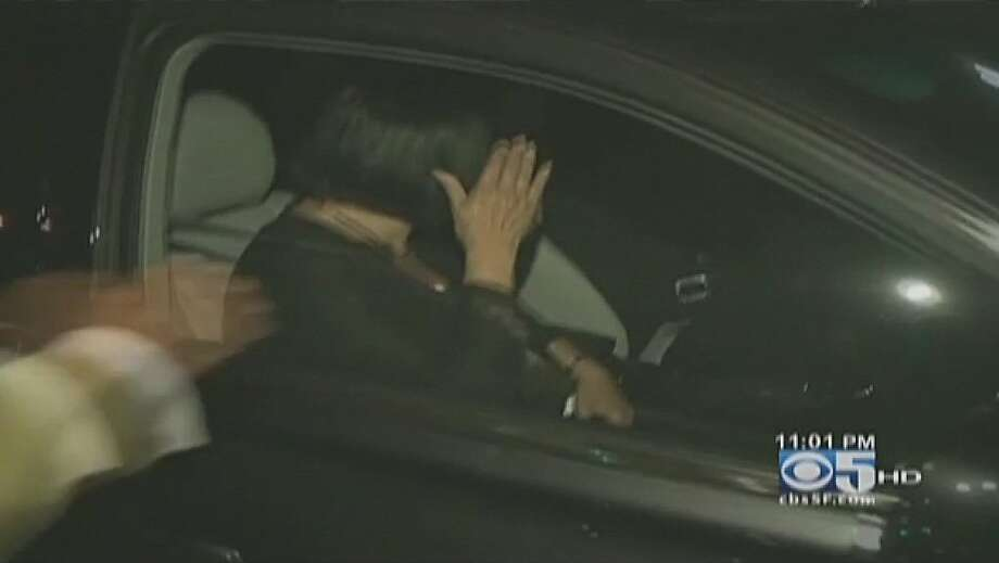 "Oakland Mayor Jean Quan attempts to avoid answering a question from a television reporter after leaving Oakland City Hall  last night.  Earlier they Mayor had attempted to talk with ""Occupy Oakland"" protesters. Photo: Cbs-5"