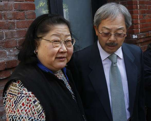 Rose Pak meets with Mayor Ed Lee after the mayor toured a fire-damaged apartment building at 920 Montgomery Street with Board of Supervisors President David Chiu in San Francisco, Calif., on Saturday, Jan. 15, 2011. The two-alarm blaze that broke out early New Year's Day  displaced 48 residents.   Ran on: 06-26-2011 Rose Pak has been a major booster of Mayor Ed Lee and has collected $200,000 in pledges recently. Ran on: 07-29-2011 Chinese community leader Rose Pak and San Francisco Mayor Ed Lee are longtime friends who meet and dine regularly. Photo: Paul Chinn, The Chronicle