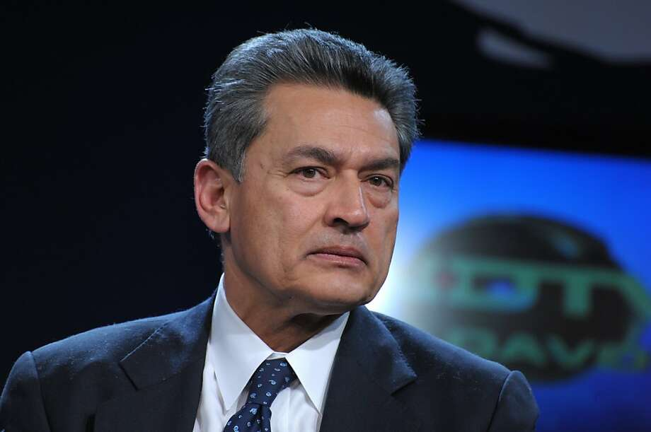 (FILES) This January 28, 2010 file photo shows Rajat Gupta, senior partner emeritus at McKinsey and Company las he listens during a televised session by Indian NDTV at the World Economic Forum in Davos. Rajat Gupta, a former director of Goldman Sachs and the longtime head of the prestigious McKinsey international consultancy, surrendered to the FBI October 26, 2011 on insider trading charges. An FBI spokesman said Gupta, who is facing charges linked to the insider trading scandal centered on hedge fund magnate Raj Rajaratnam, surrendered at 8:10 am (1210 GMT) and was due to later appear in a New York court. Charges against Gupta would mark a stunning reversal for one of America's elite executives.  AFP PHOTO/ERIC PIERMONT (Photo credit should read ERIC PIERMONT/AFP/Getty Images) Photo: Eric Piermont, AFP/Getty Images