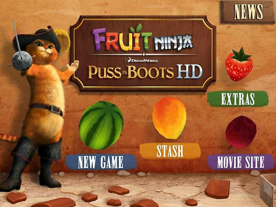 App of the week, Puss in Boots HD, by Halfbrick studios. Photo: Halfbrick Studios