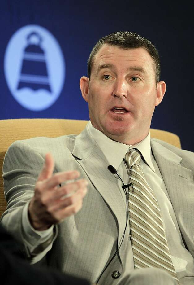 Cleveland Indians baseball player Jim Thome speaks at the City Club of Cleveland Monday, Oct. 24, 2011, in Cleveland. (AP Photo/Mark Duncan)  Ran on: 10-25-2011 Photo caption Dummy text goes here. Dummy text goes here. Dummy text goes here. Dummy text goes here. Dummy text goes here. Dummy text goes here. Dummy text goes here. Dummy text goes here.###Photo: names25_PH_thome1319328000AP###Live Caption:Cleveland Indians baseball player Jim Thome speaks at the City Club of Cleveland Monday, Oct. 24, 2011, in Cleveland.###Caption History:Cleveland Indians baseball player Jim Thome speaks at the City Club of Cleveland Monday, Oct. 24, 2011, in Cleveland. (AP Photo-Mark Duncan)###Notes:Jim Thome###Special Instructions: Photo: Mark Duncan, AP