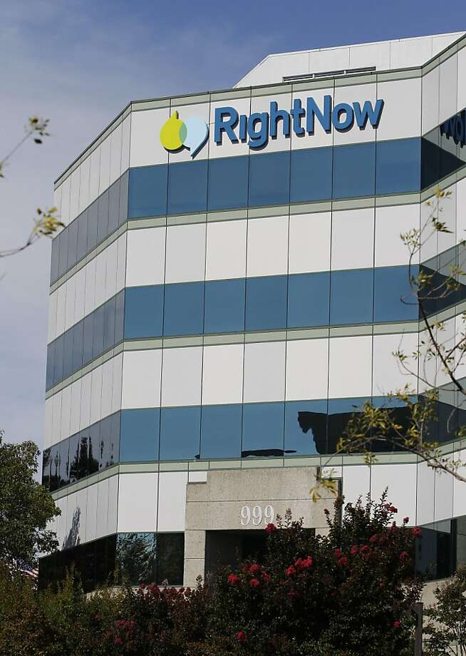 Exterior view of RightNow Technologies Inc. is shown in San Mateo, Calif., Monday, Oct. 24, 2011. Software company Oracle Corp. said Monday that it is buying RightNow Technologies Inc. for about $1.5 billion so it can offer a broader range of software and services that help businesses manage customer service. (AP Photo/Paul Sakuma)  Ran on: 10-25-2011 RightNow makes software that helps companies serve customers using call centers, Internet and social networks. Photo: Paul Sakuma, AP