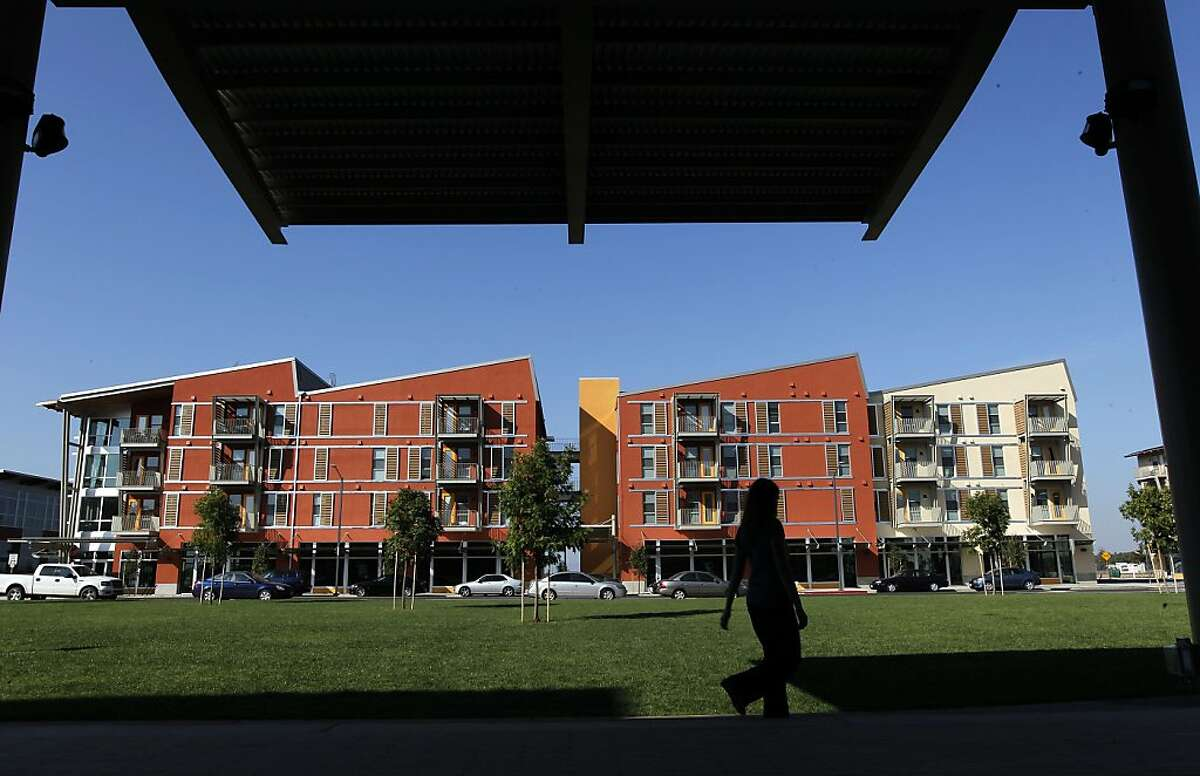 """West Davis Village in Davis, Ca., on Friday October 21, 2011. West Davis Village is reported to be the largest community in the country to be a """"zero net energy"""" community, that is one that generates as much energy as it consumes."""
