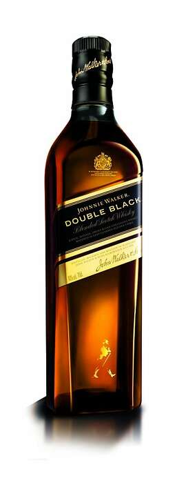 A bottle of the new Johnnie Walker Double Black Scotch Whisky.