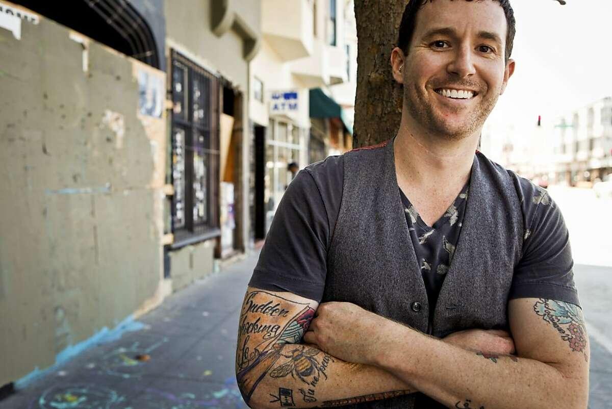 Josh Mohr, seen on Monday, Sept. 26, 2011 in San Francisco, Calif., has written his third novel,
