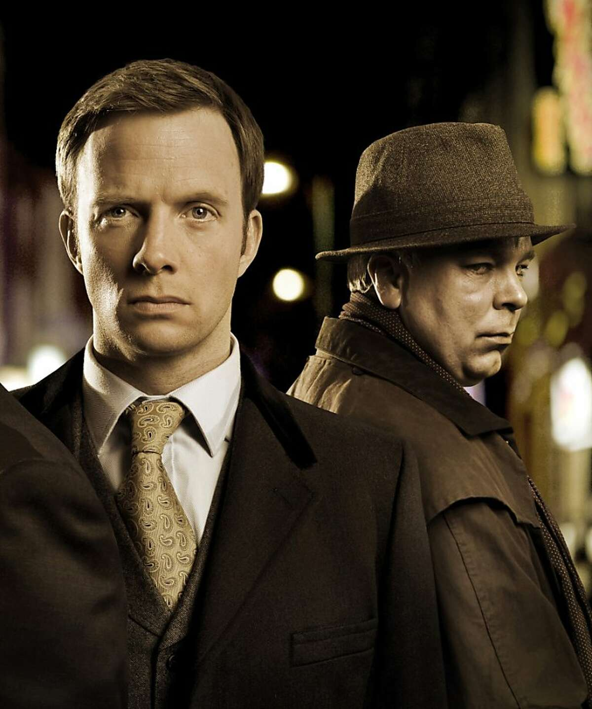 DS Miles (Phil Davis, from left), DI Chandler (Rupert Penry-Jones), and Buchan (Steve Pemberton) of the British show