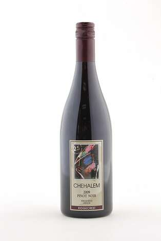 2009 Chehalem Ridgecrest 25th Anniversary Pinot Noir as seen in San Francisco, California, on Wednesday, October 12, 2011. Photo: Craig Lee, Special To The Chronicle