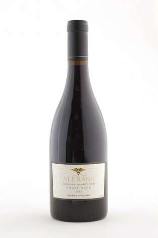 2009 Alexana Winery Revana Vineyard Pinot Noir as seen in San Francisco, California, on Wednesday, October 12, 2011. Photo: Craig Lee, Special To The Chronicle