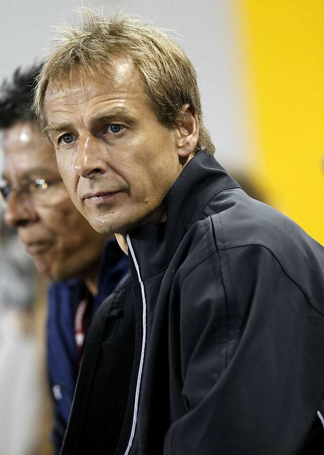 HARRISON, NJ - OCTOBER 11:  Jurgen Klinsmann, head coach of the United States, sits on the bench before a match against Ecuador at Red Bull Arena on October 11, 2011 in Harrison, New Jersey.  (Photo by Jeff Zelevansky/Getty Images) Photo: Jeff Zelevansky, Getty Images