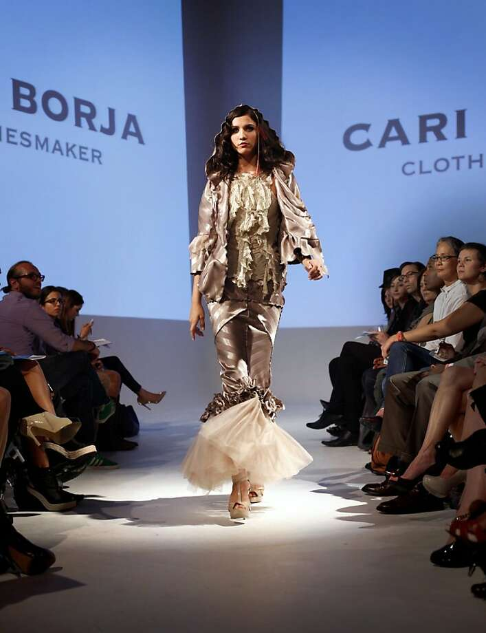 Cari Borja's new collection is shown in a group runway fashion show in San Francisco, Calif., Thursday, September 29, 2011.  Her collection is inspired by her time as an intern at Chez Panisse. Photo: Sarah Rice, Special To The Chronicle