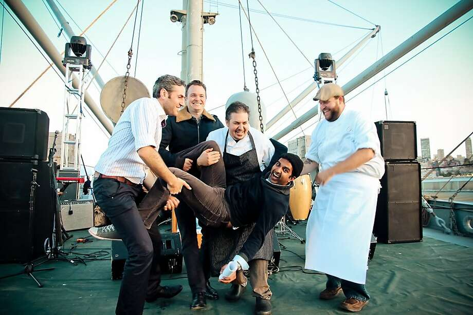 The Stag Dining Group at their Mission: Battleship event held on October 6 aboard the SS Jeremiah O'Brien at Pier 45. Photo: Julie Michelle