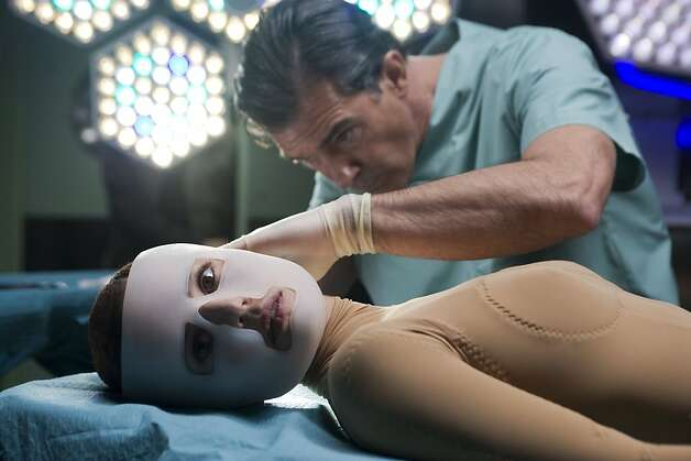 "Left to Right: Elena Anaya as Vera and Antonio Banderas as Doctor Robert Ledgard in, ""The Skin I Live in."" Photo: Luc'a Faraig, Sony Pictures Classics"