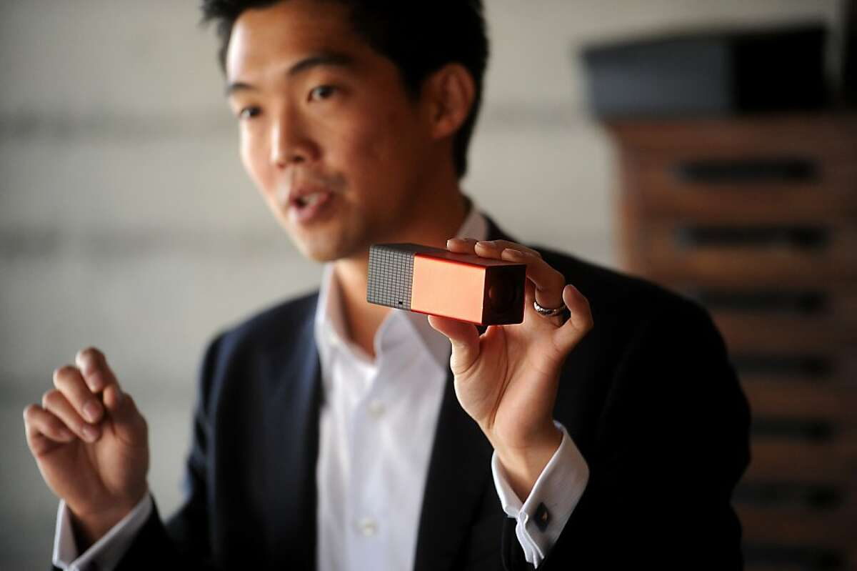 Lytro CEO Ren Ng introduces his company's light field camera on Wednesday, Oct. 19, 2011, in San Francisco. The camera lets users choose where an image is focus after shooting.