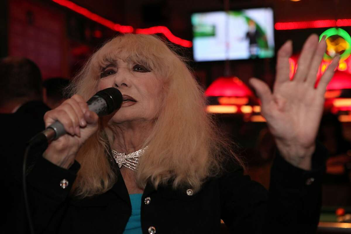 Carol Doda, who at one time was the most famous stripper in the world, sings at Gino and Carlo's Bar in San Francisco Calif., on October 5, 2011. Doda has been singing at Gino and Carlo's for about 12 years but says she used to sing as well as dance in her younger days as a stripper.