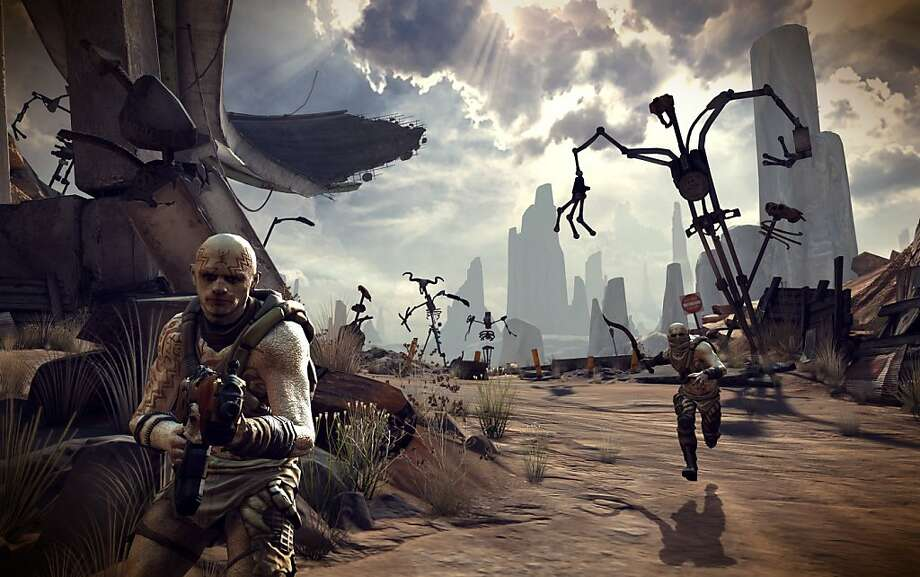 "An undated handout screen shot from the new video game ""Rage, "" by id Software. Expectations have been high for id Software's long-awaited game, a post-apocalyptic shooter that is now available on PC and consoles. Photo: Id Software"