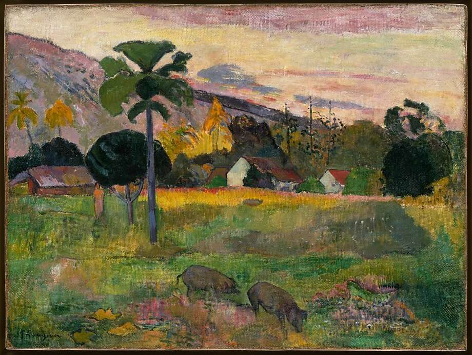 Paul Gauguin, Haere Mai, 1891.  Oil on burlap, 28 ∏ x 36 inches (72.4 x 91.4 cm). Solomon R. Guggenheim Museum, New York, Thannhauser Collection, Gift, Justin K. Thannhauser 78.2514.16 Photo: The Solomon R. Guggenheim Museum