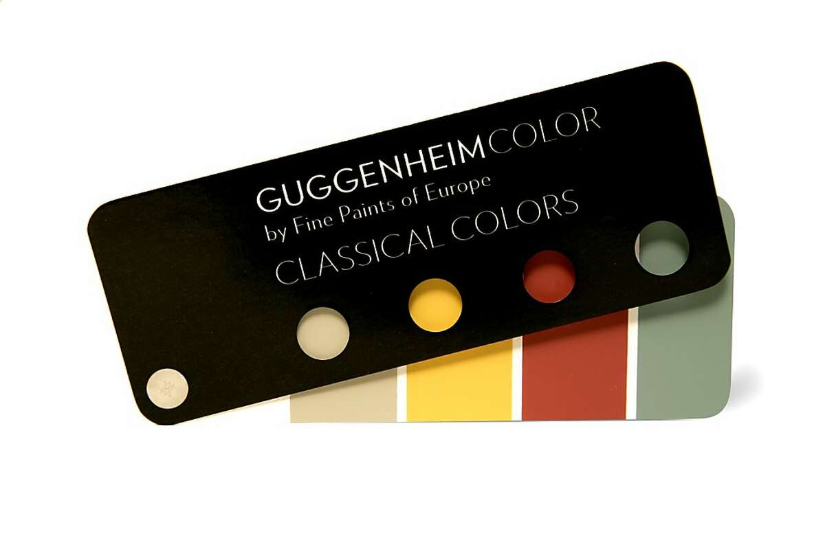 Fan deck images of Guggenheim Museum's color swatches.