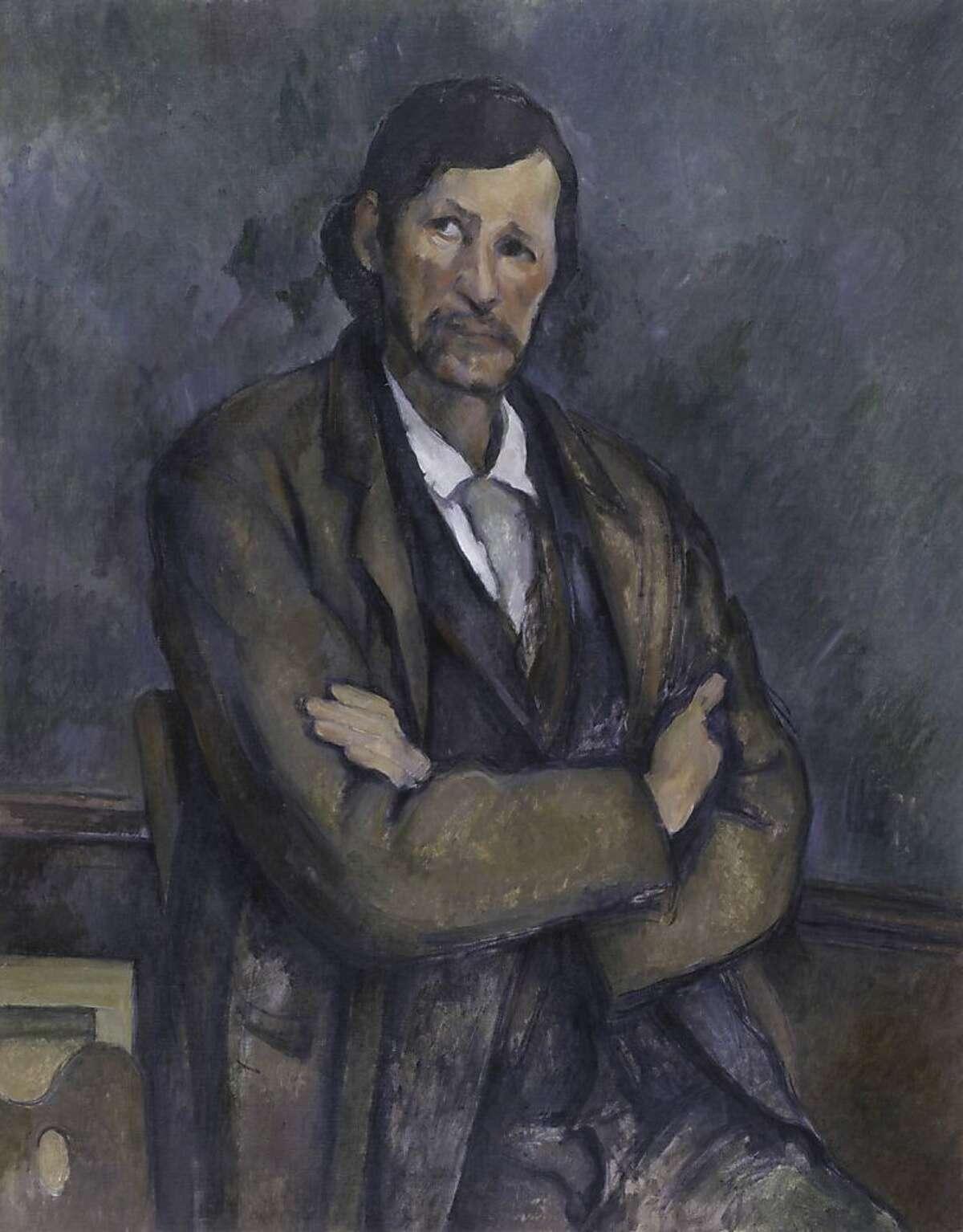 Paul Cézanne, Man with Crossed Arms (Homme aux bras croisés), ca. 1899. Oil on canvas, 36 π x 28 5/8 inches (92 x 72.7 cm). Solomon R. Guggenheim Museum, New York 54.1387