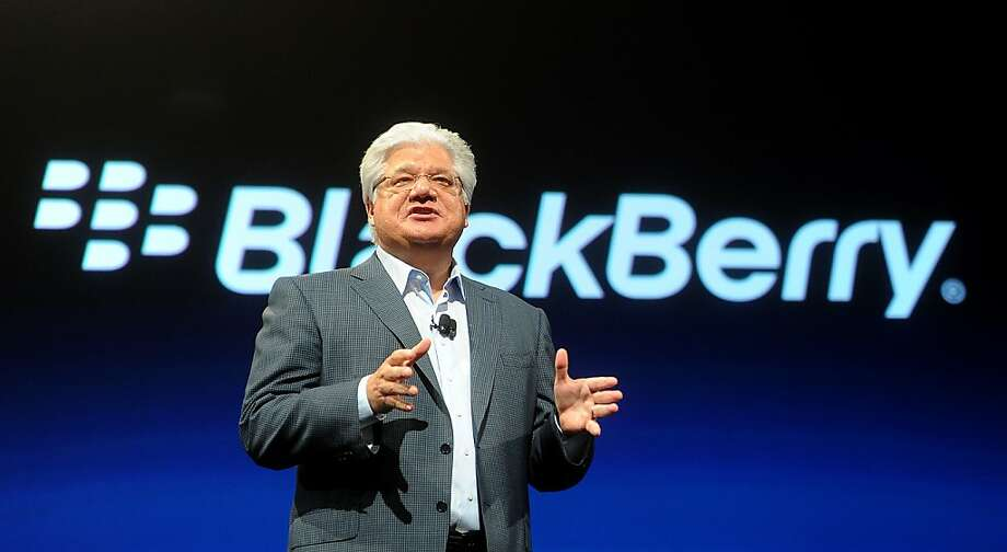 Mike Lazaridis, president and co-chief executive officer of Research In Motion Ltd., speaks at the BlackBerry DevCon conference in San Francisco, California, U.S., on Tuesday, Oct. 18, 2011. Research In Motion Ltd., looking to spur consumer interest in its devices after losing sales to Apple Inc. and Google Inc., unveiled a new operating system called BlackBerry BBX for its PlayBook tablet computer and new smartphones. Photographer: Noah Berger/Bloomberg *** Local Caption *** Mike Lazaridis Photo: Noah Berger, Bloomberg
