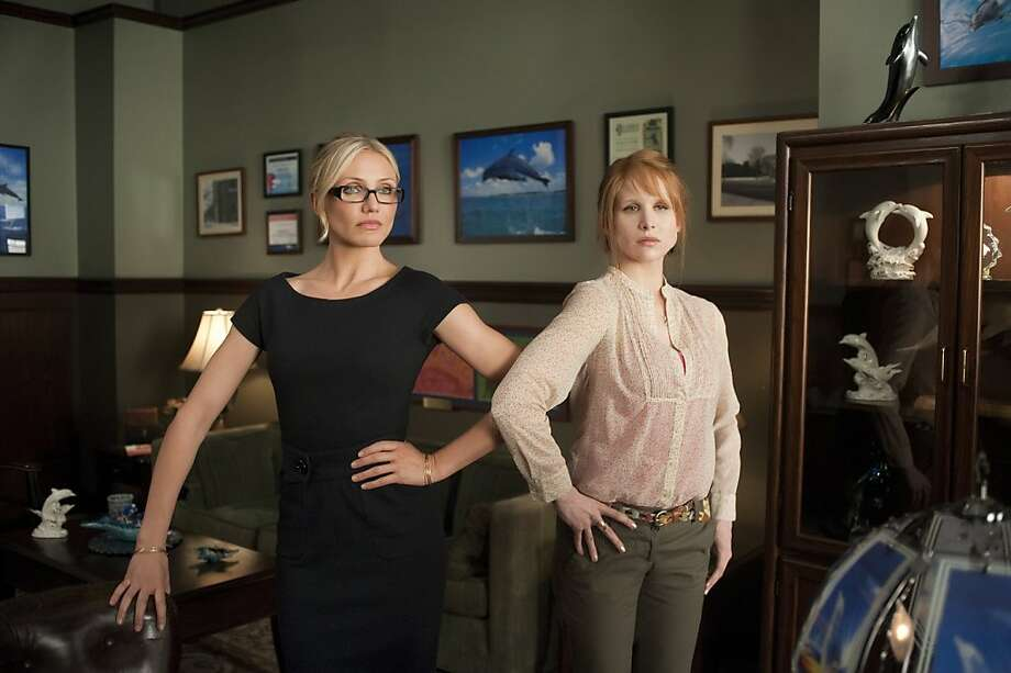 "Cameron Diaz and Lucy Punch in ""Bad Teacher.""   Ran on: 06-19-2011 Above, disgruntled Cameron Diaz and superteacher Lucy Punch in the comedy &quo;Bad Teacher.&quo; Director Jake Kasdan, right, says Punch &quo;is someone who is finding new heights of her power every time out.&quo; Ran on: 06-19-2011 Photo caption Dummy text goes here. Dummy text goes here. Dummy text goes here. Dummy text goes here. Dummy text goes here. Dummy text goes here. Dummy text goes here. Dummy text goes here.###Photo: teacher19_PH_punch10###Live Caption:Cameron Diaz and Lucy Punch in ""Bad Teacher.""###Caption History:Cameron Diaz and Lucy Punch in ""Bad Teacher.""###Notes:###Special Instructions: Photo: Sony Pictures"