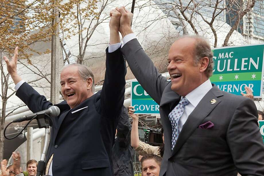 "Francis Guinan, left, as Gov. McCall Cullen and Kelsey Grammar as Mayor Tom Kane appear in a scene from , ""Boss."" Photo: Chuck Hodes, Starz Media"