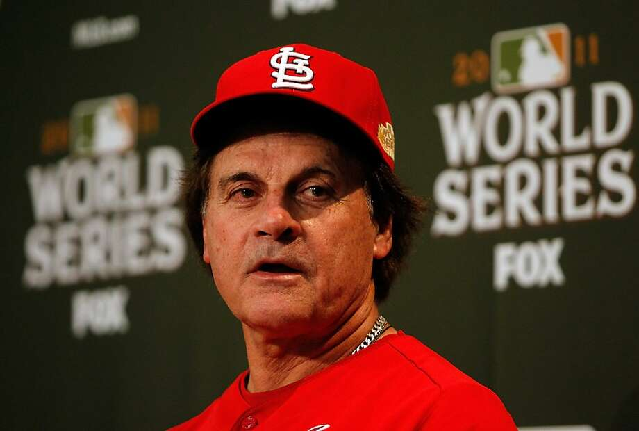 ARLINGTON, TX - OCTOBER 21:   Manager Tony La Russa of the St. Louis Cardinals talks to the media ahead of Game Three of the World Series at Rangers Ballpark in Arlington on October 21, 2011 in Arlington, Texas.  (Photo by Tom Pennington/Getty Images) Photo: Tom Pennington, Getty Images