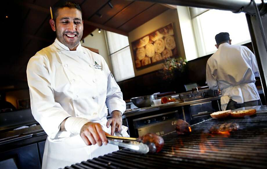 Ismael Macias has risen through the ranks to become the chef at Lark Creek Steak in San Francisco, Calif., Wednesday, October 12, 2011. Photo: Sarah Rice, Special To The Chronicle
