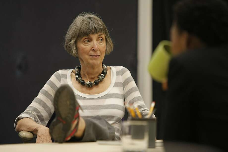 """Irene Lewis, who is directing a production of David Mamet's """"Race"""", during rehearsal at the ACT Rehearsal Space in San Francisco, Calif., on Thursday, Oct. 13, 2011. Photo: Dylan Entelis, The Chronicle"""