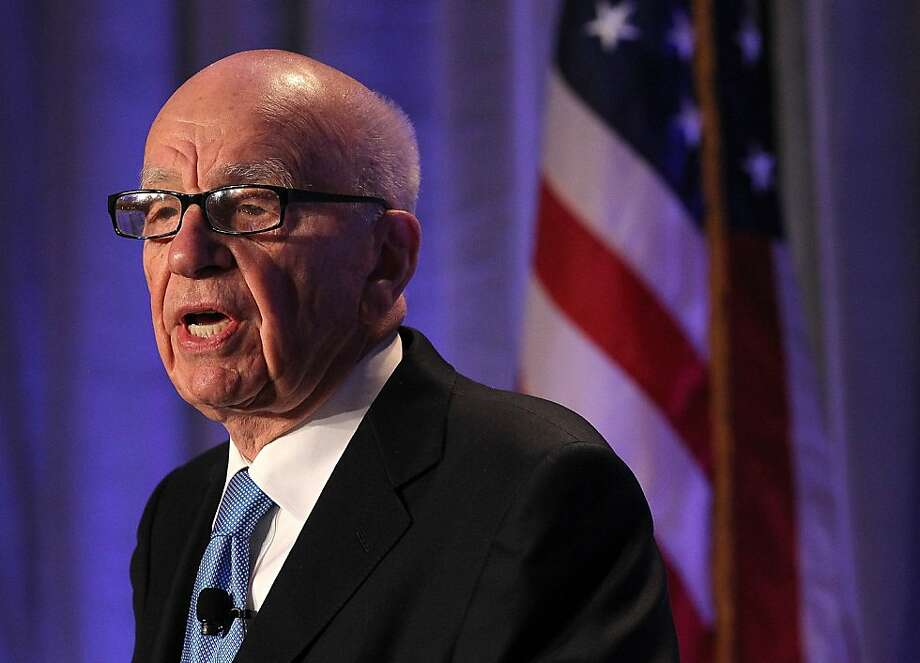 SAN FRANCISCO, CA - OCTOBER 14:  News Corp. CEO Rupert Murdoch delivers a keynote address at the National Summit on Education Reform on October 14, 2011 in San Francisco, California.  Rupert Murdoch was the keynote speaker at the two-day National Summit on Education Reform.  (Photo by Justin Sullivan/Getty Images) Photo: Justin Sullivan, Getty Images