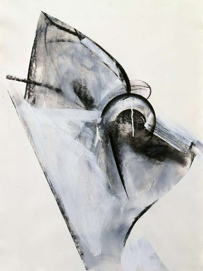 """Untitled"" (1980) acrylic, charcoal and graphite on paper by Jay DeFeo Photo: Unknown, Hosfelt Gallery."
