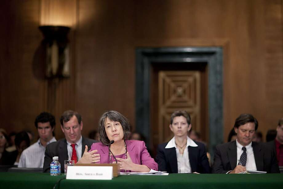 Sheila Bair, chairman of the Federal Deposit Insurance Corp. (FDIC), speaks during a Senate Banking Committee hearing in Washington, D.C., U.S., on Thursday, June 30, 2011. U.S. lawmakers could harm the financial system if they fail to give regulators money and power to implement the Dodd-Frank Act, Bair said. Photographer: Andrew Harrer/Bloomberg *** Local Caption *** Sheila Bair Sheila Bair, chairman of the Federal Deposit Insurance Corp. (FDIC), speaks during a Senate Banking Committee hearing in Washington, D.C., U.S., on Thursday, June 30, 2011. U.S. lawmakers could harm the financial system if they fail to give regulators money and power to implement the Dodd-Frank Act, Bair said. Photographer: Andrew Harrer/Bloomberg *** Local Caption *** Sheila Bair Photo: Andrew Harrer, Bloomberg