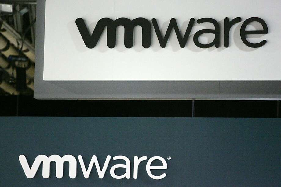 VMware Inc. signage is displayed at the EMC World conference in Las Vegas, Nevada, U.S., on Tuesday, May 10, 2011. EMC Corp., the world's biggest maker of storage computers, reported a 28 percent gain in first-quarter profit last month as companies increased spending on data centers capable of delivering tasks through the Internet. Photographer: Ronda Churchill/Bloomberg VMware Inc. signage is displayed at the EMC World conference in Las Vegas, Nevada, U.S., on Tuesday, May 10, 2011. EMC Corp., the world's biggest maker of storage computers, reported a 28 percent gain in first-quarter profit last month as companies increased spending on data centers capable of delivering tasks through the Internet. Photographer: Ronda Churchill/Bloomberg  Ran on: 08-30-2011 VMware of Palo Alto is hosting a trade show in Las Vegas this week. Photo: Ronda Churchill, Bloomberg