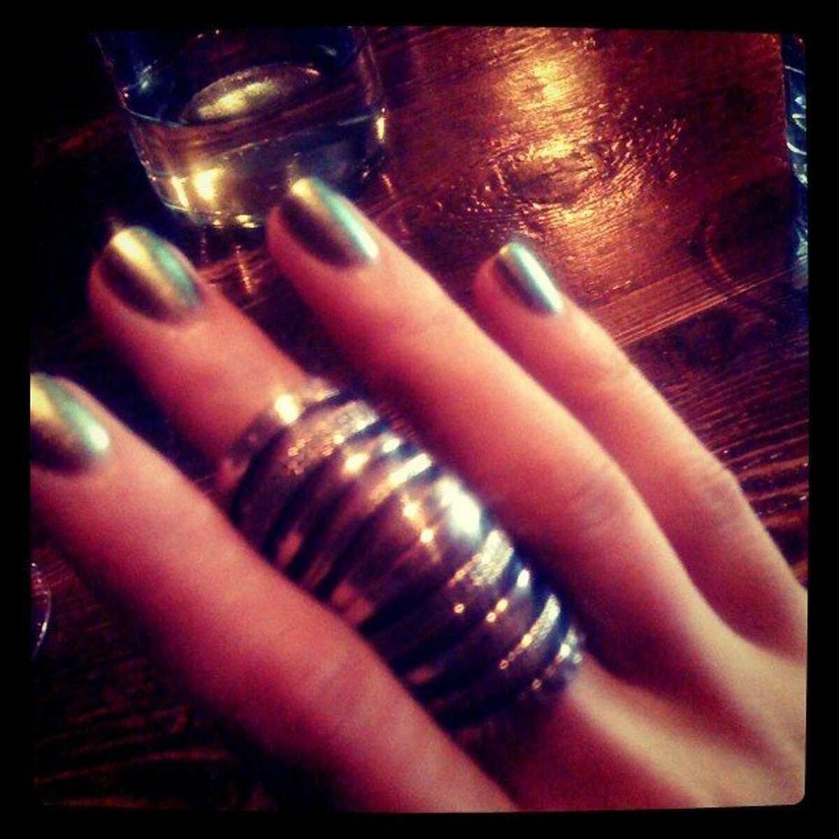 New gold/green Chanel polish