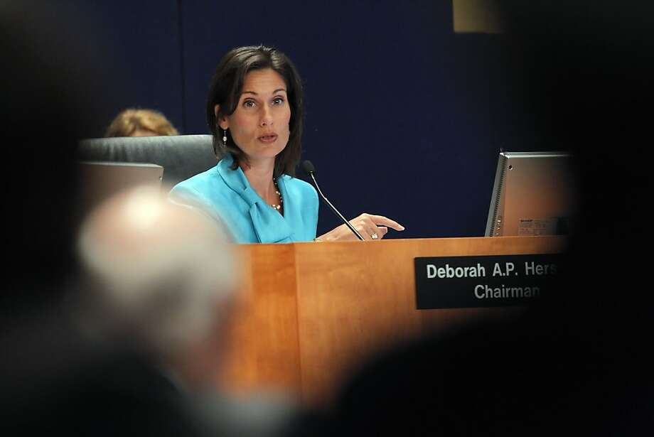 NTSB Chairman Deborah A.P. Hersman makes a pointed remark about PG&E's practices during the NTST hearings on the 2010 PG&E pipeline blast in Washington DC, on Tuesday, August 30, 2011. Photo: Carlos Avila Gonzalez, The Chronicle