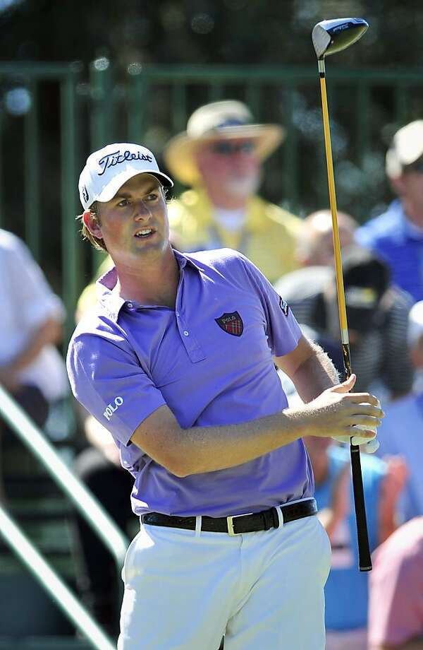 Webb Simpson watches his shot off the first tee during the final round of the McGladrey Classic golf tournament at the Sea Island Golf Club on St. Simons Island, Ga., Sunday, Oct. 16, 2011. (AP Photo/Stephen Morton) Photo: Stephen Morton, AP