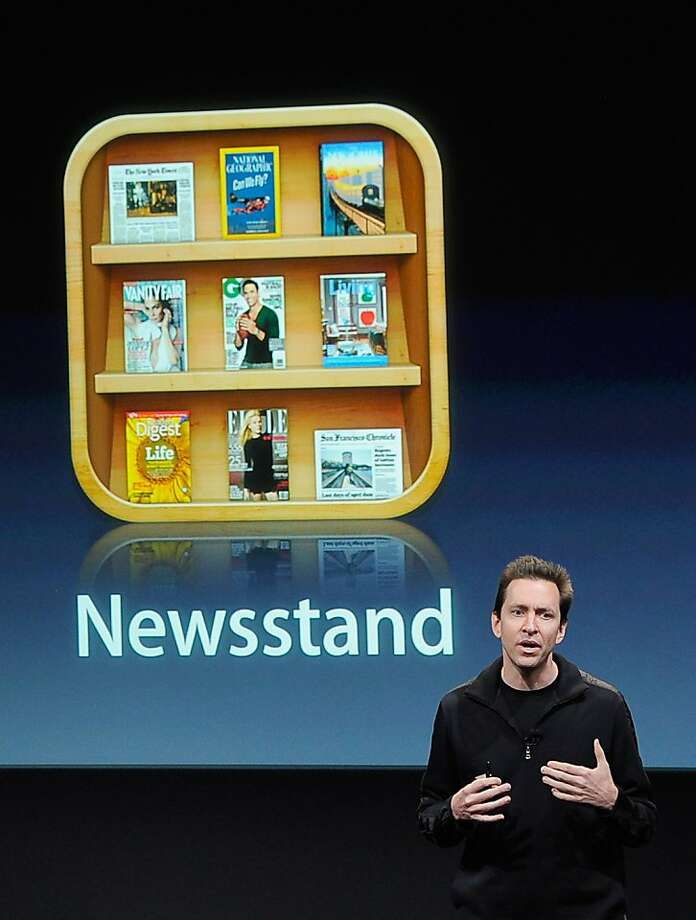CUPERTINO, CA - OCTOBER 04:  Apple's Senior Vice President of iOS Scott Forstall speaks at the event introducing the new  iPhone at the company's headquarters October 4, 2011 in Cupertino, California.  The announcement marks the first time new CEO Tim Cook introduced a new product since Apple co-founder Steve Jobs resigned in August.  (Photo by Kevork Djansezian/Getty Images) Photo: Kevork Djansezian, Getty Images