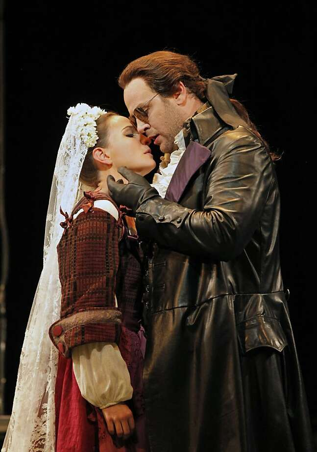 Kate Lindsey (Zerlina) and Lucas Meachem (Don Giovanni) in the SF Opera production of Mozart's comid tragedy Photo: Cory Weaver, SF Opera
