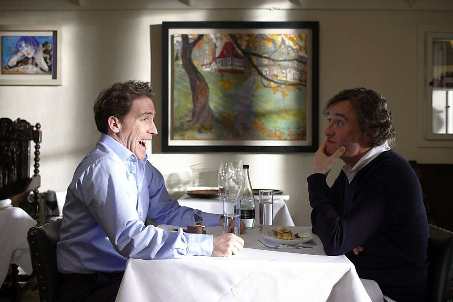 Rob Brydon and Steve Coogan in Michael WinterbottomÕs THE TRIP.     Ran on: 06-17-2011 In &quo;The Trip,&quo; British comedians Rob Brydon and Steve Coogan dine throughout Northern England. Photo: Phil Fisk, An IFC Films Release
