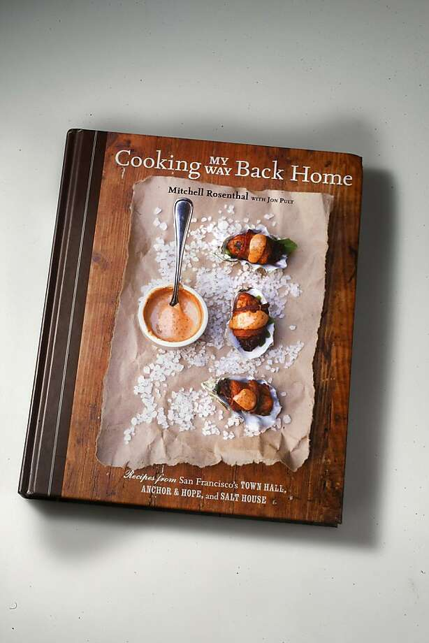 """Book cover for """"Cooking My Way back Home,""""  by Mitch Rosenthal, in San Francisco, California, on Wednesday, September 28, 2011. Photo: Liz Hafalia, The Chronicle"""