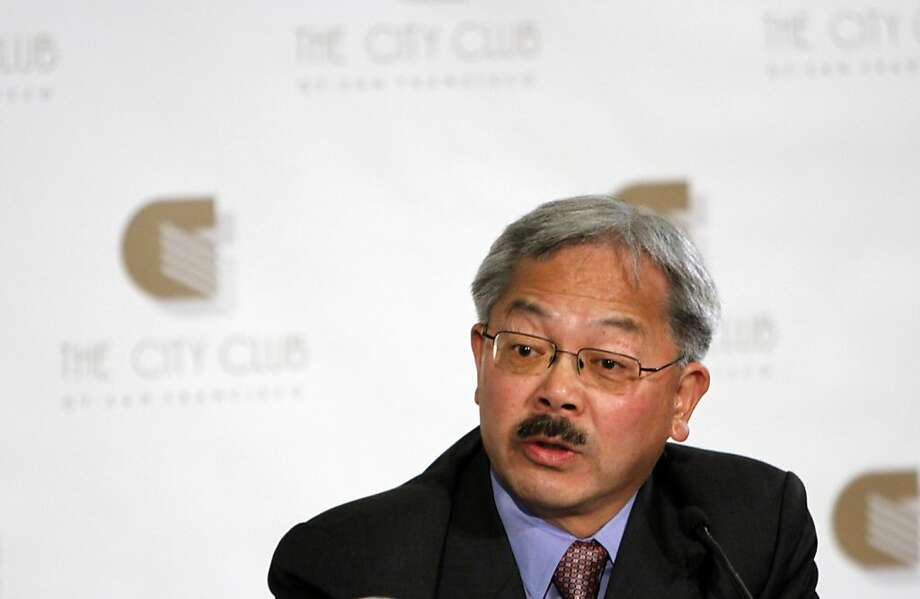 Ed Lee answers a question during the mayoral debate at the City Club in San Francisco, Calif., Monday, October 10, 2011. Photo: Sarah Rice, Special To The Chronicle