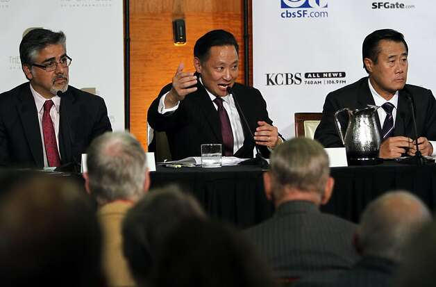 Jeff Adachi answers a question during the mayoral debate at the City Club in San Francisco, Calif., Monday, October 10, 2011. Photo: Sarah Rice, Special To The Chronicle