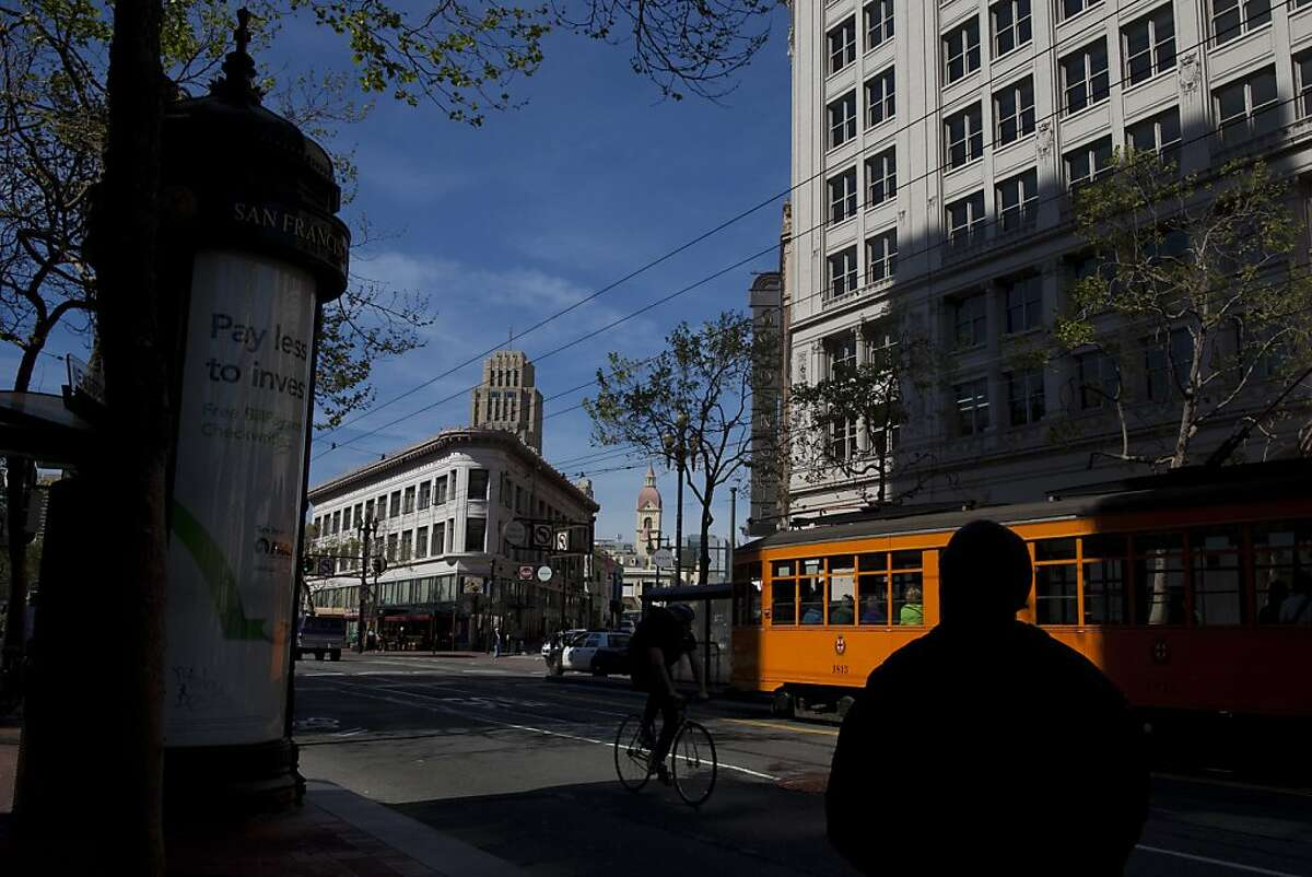 Street scene on Market Street April 1, 2011 in San Francisco, Calif. Photograph by David Paul Morris/Special to the Chronicle